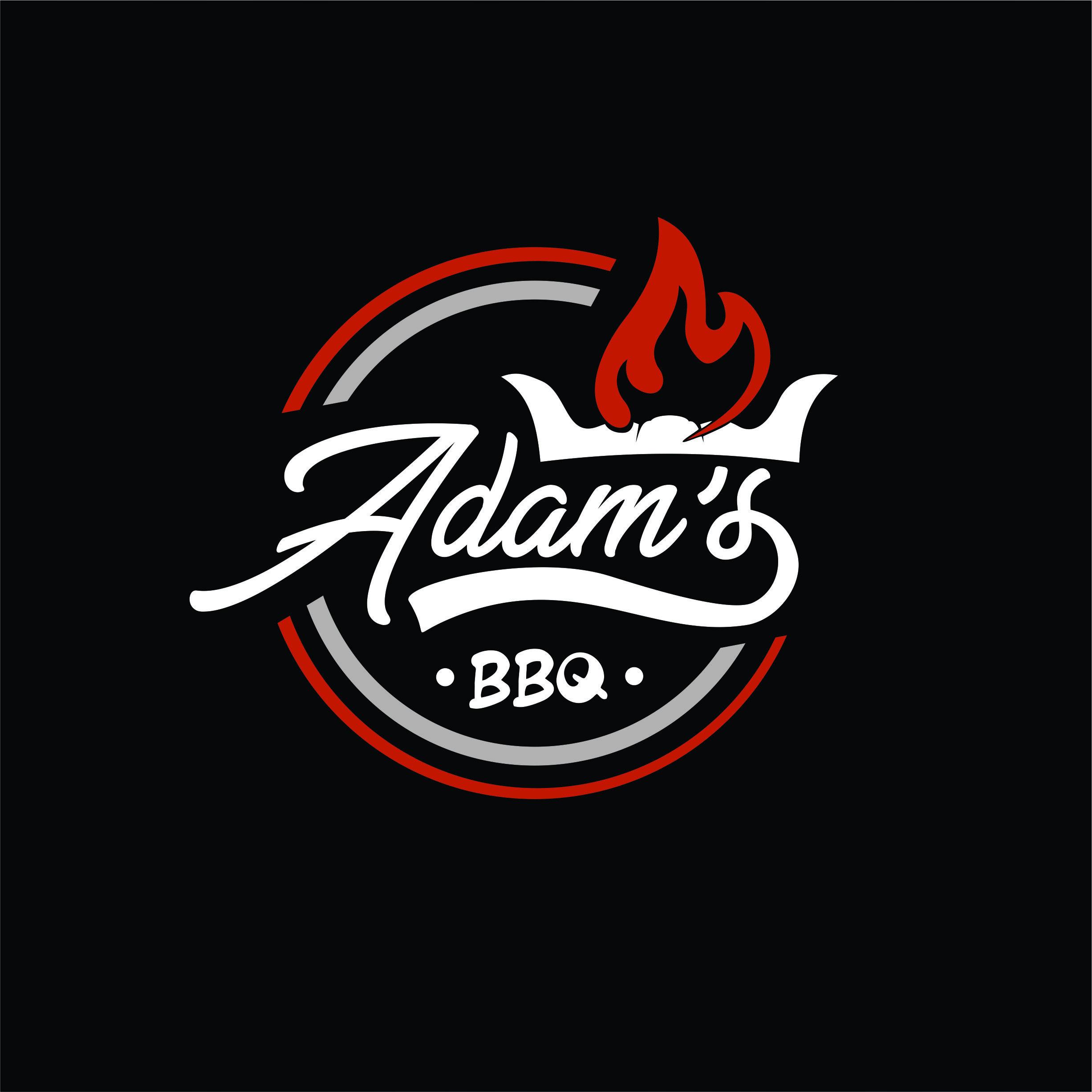logo design for adam´s bbq grill & more ( wobei & more auch