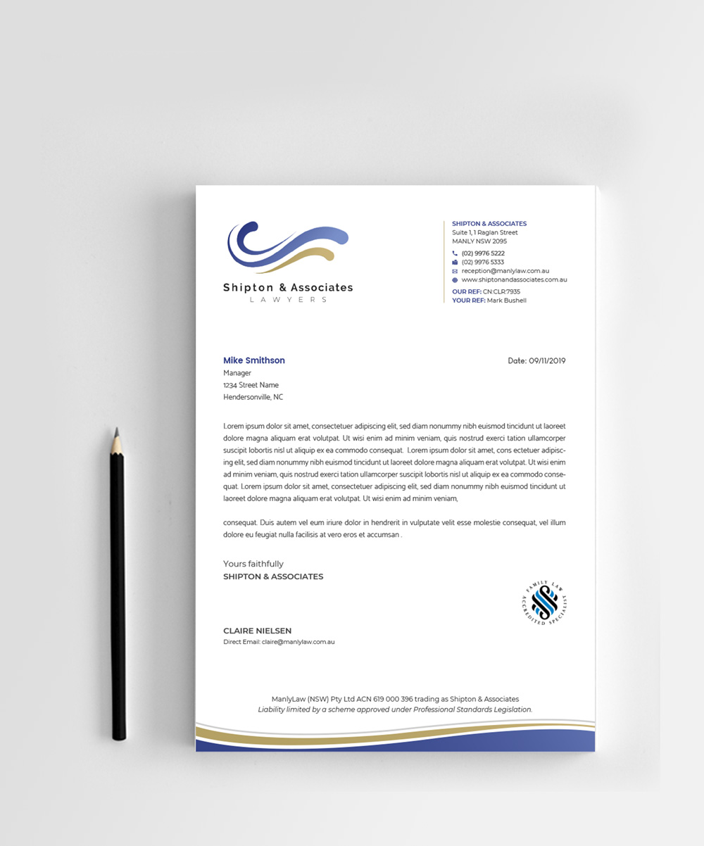 Serious Upmarket Letterhead Design Job Letterhead Brief For A Company In Australia