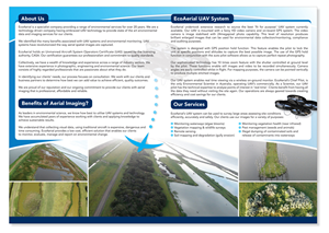 Brochure Design by Patrick Tero - Brochure EcoAerial Environmental Compliance and ...