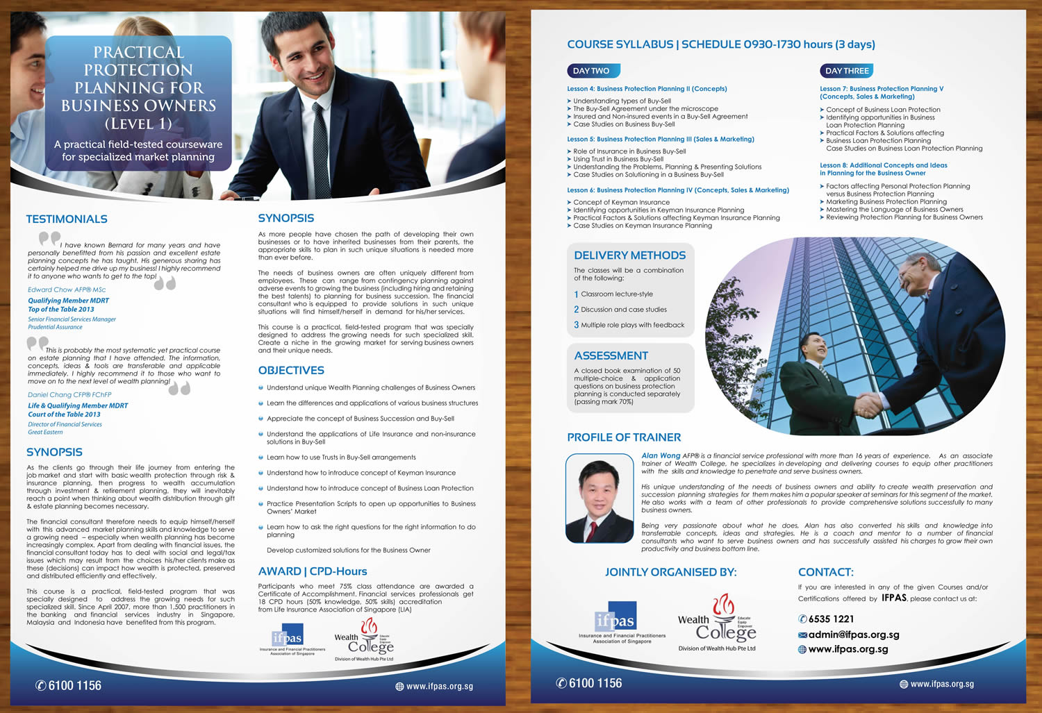 training brochure design for wealth hub pte ltd by sbss design