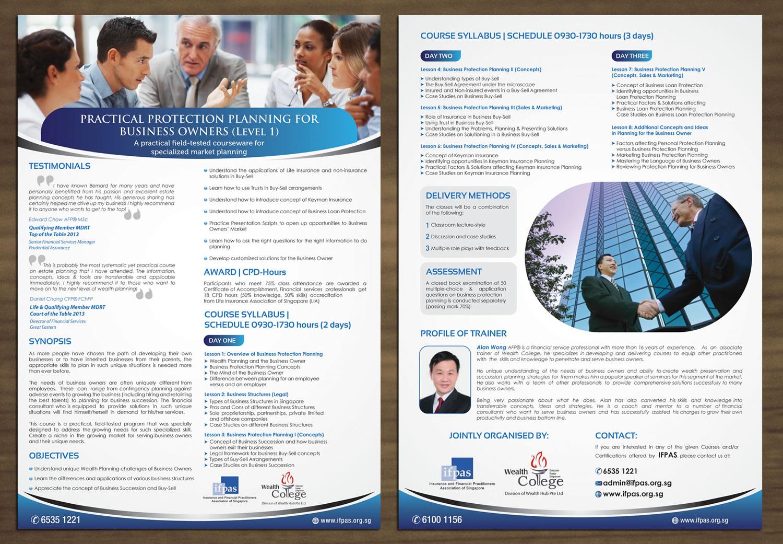 brochure design course - brochure design for wealth hub pte ltd by smart design