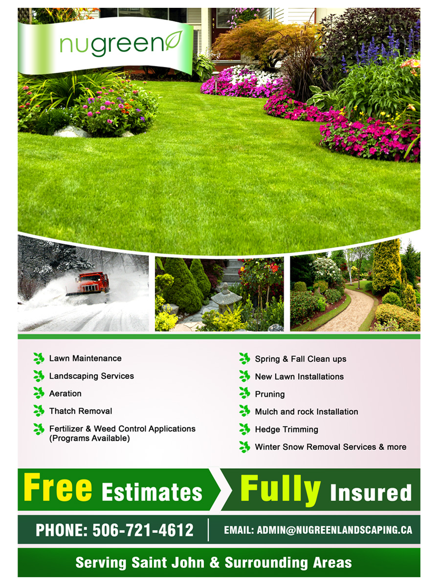 elegant playful landscaping flyer design for a company by