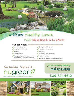 23 elegant flyer designs landscaping flyer design project for a
