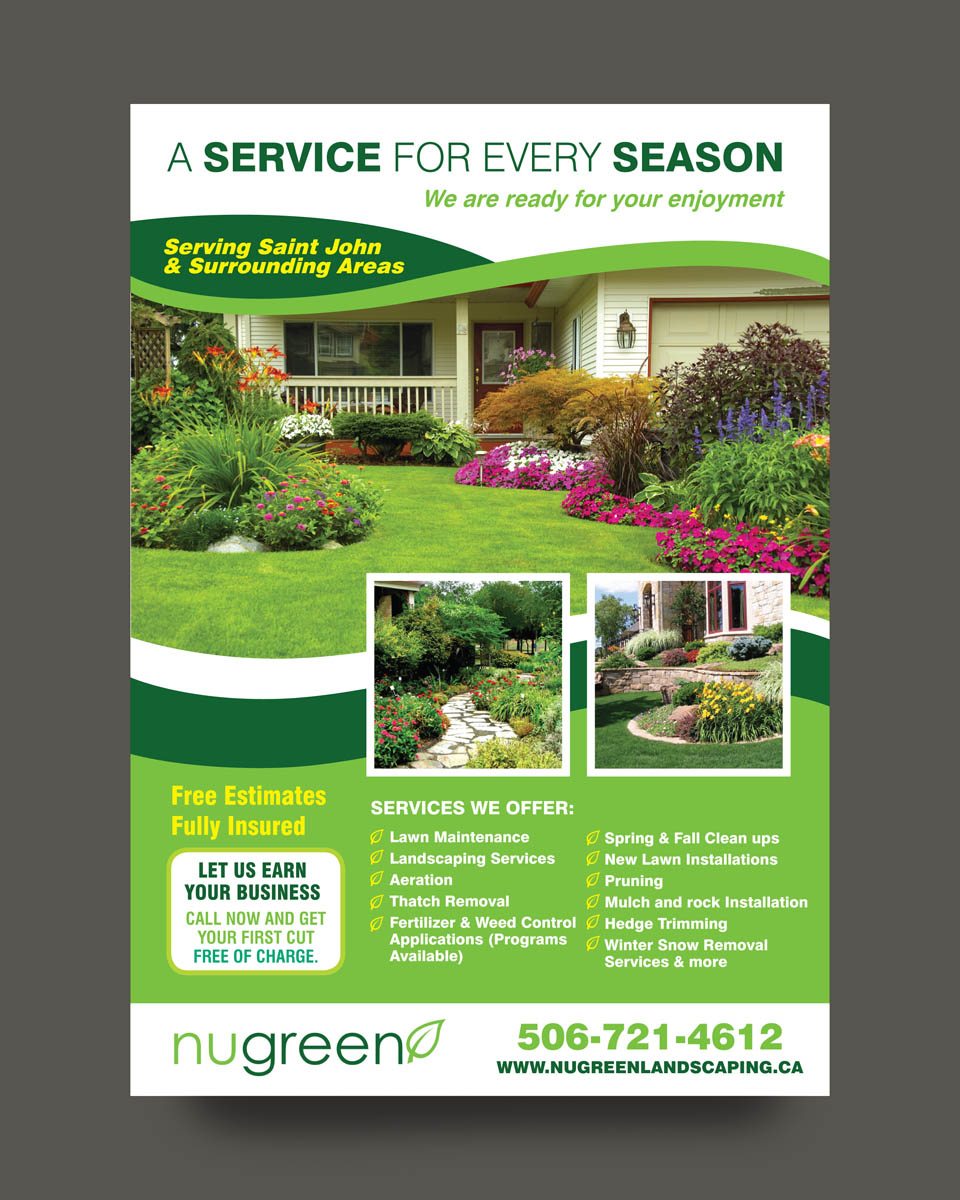 24 elegant playful landscaping flyer designs for a for Landscaping business
