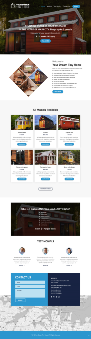 Design A Wordpress Based Website For Selling Tiny Homes 21 Web Designs For Your Dream Tiny House