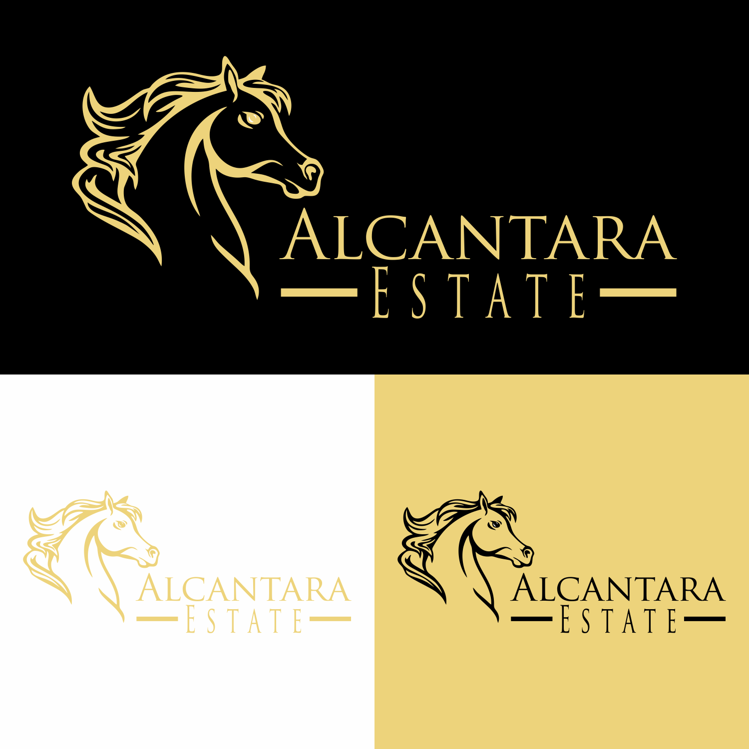 Serious Upmarket Agriculture Logo Design For Alcantara Estate Name In The Logo With Arabian Horse This Logo To Be Black And Gold By Iwan 11 Design 22761794