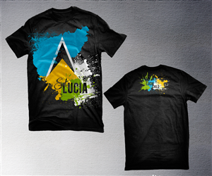 e406e7a7d More T-shirt Designs from 't-shirts business for the island of ST.Lucia  with flag designs with colors white yellow black and bl'