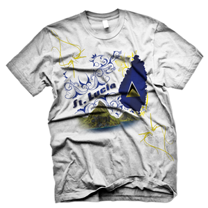 0dea68ab6 t-shirts business for the island of ST.Lucia with flag designs with colors