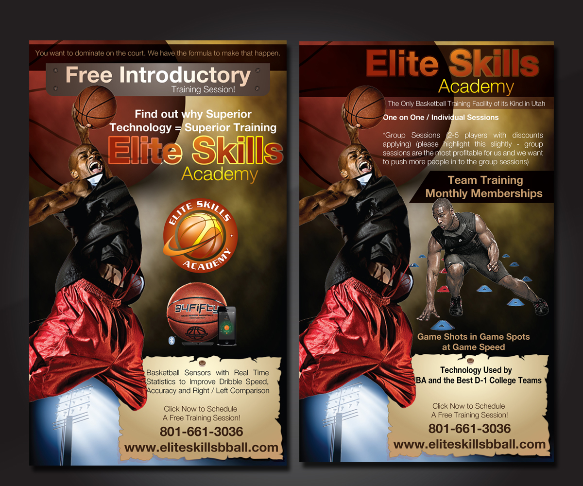 56 Modern Masculine Training Flyer Designs for a Training business – Basketball Flyer Example