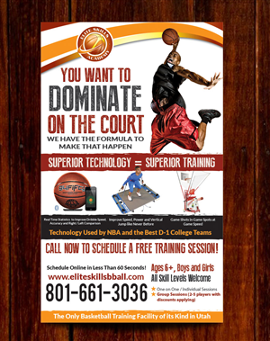 Flyer Design by Priyo Subarkah - Basketball Training Facility Flyer Design