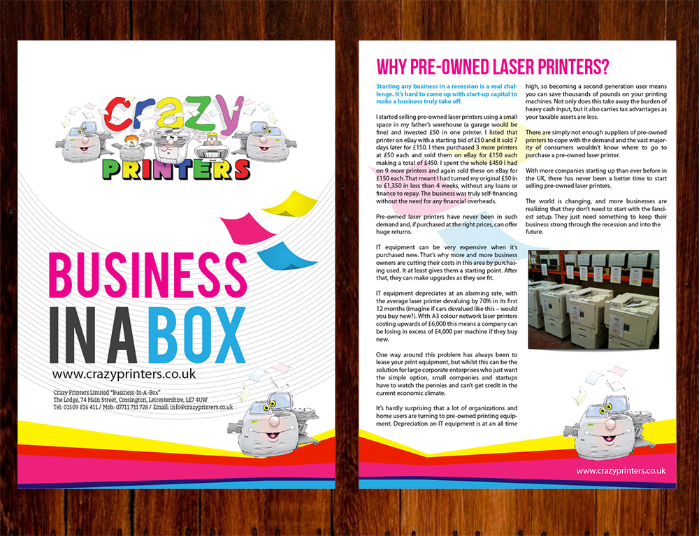 Business Brochure Design for The Printer Franchise Company