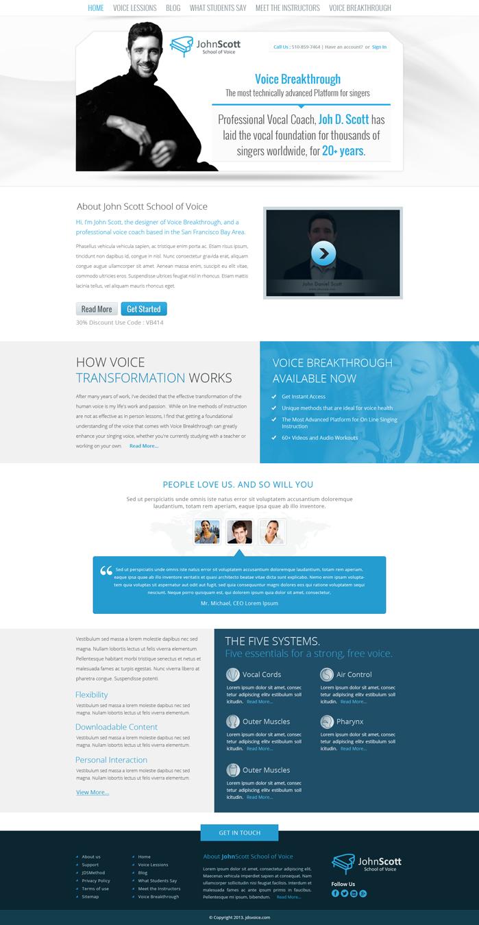 Modern Upmarket Marketing Web Design For Jdsvoice By Hashim Creetto Design 3063890