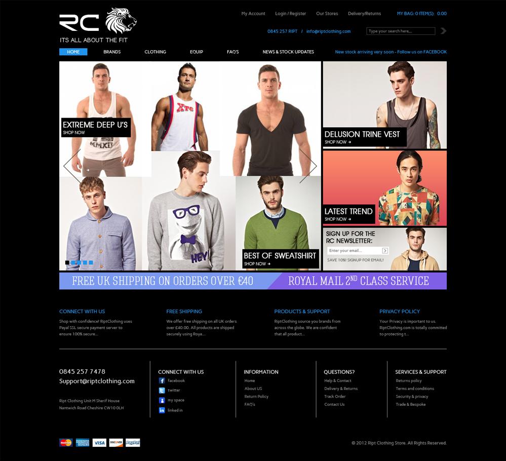 Professional masculine web design for jordan gregson by for Masculine web design