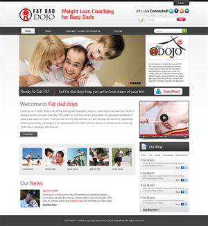 Wordpress Design by OM - Wordpress Design for Dads Weightloss  membershi...