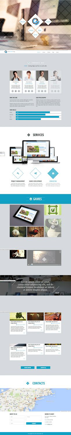 Web Design by PauloF - Website Design for Casino Game Maker