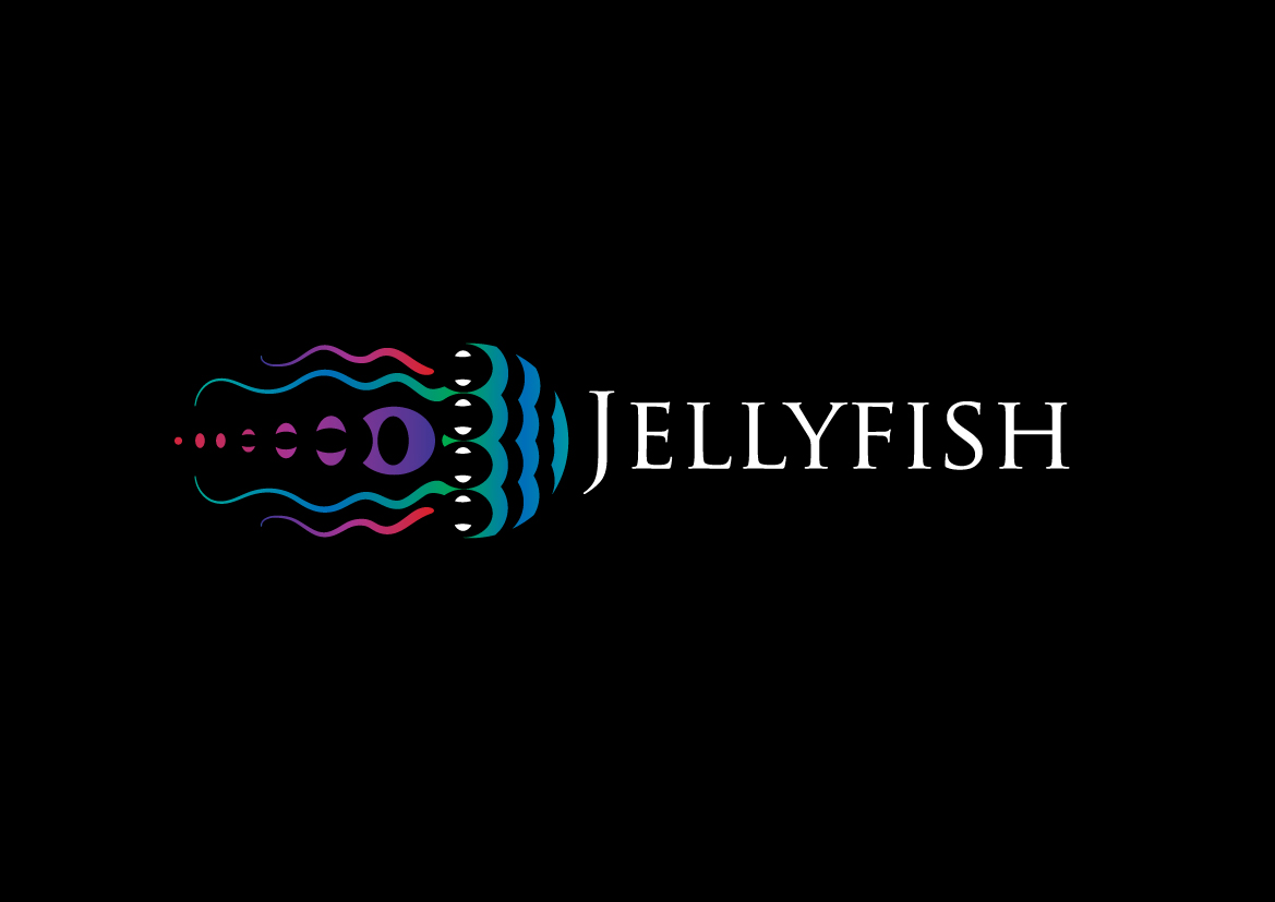 feminine playful it company logo design for jellyfish by