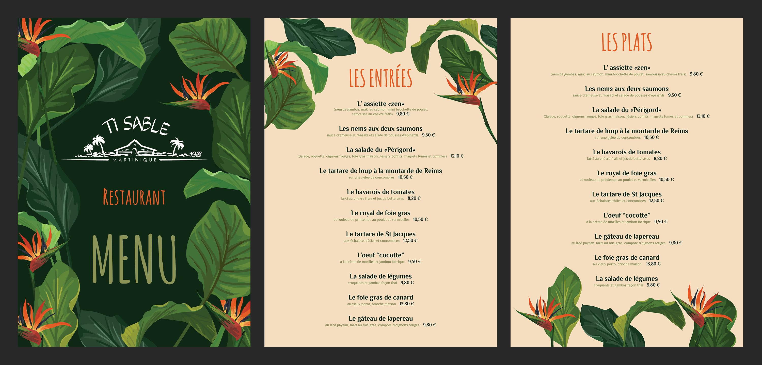 Restaurant Menu For Beach Club In Martinique 21 Menu Designs For A Business In Martinique Page 2