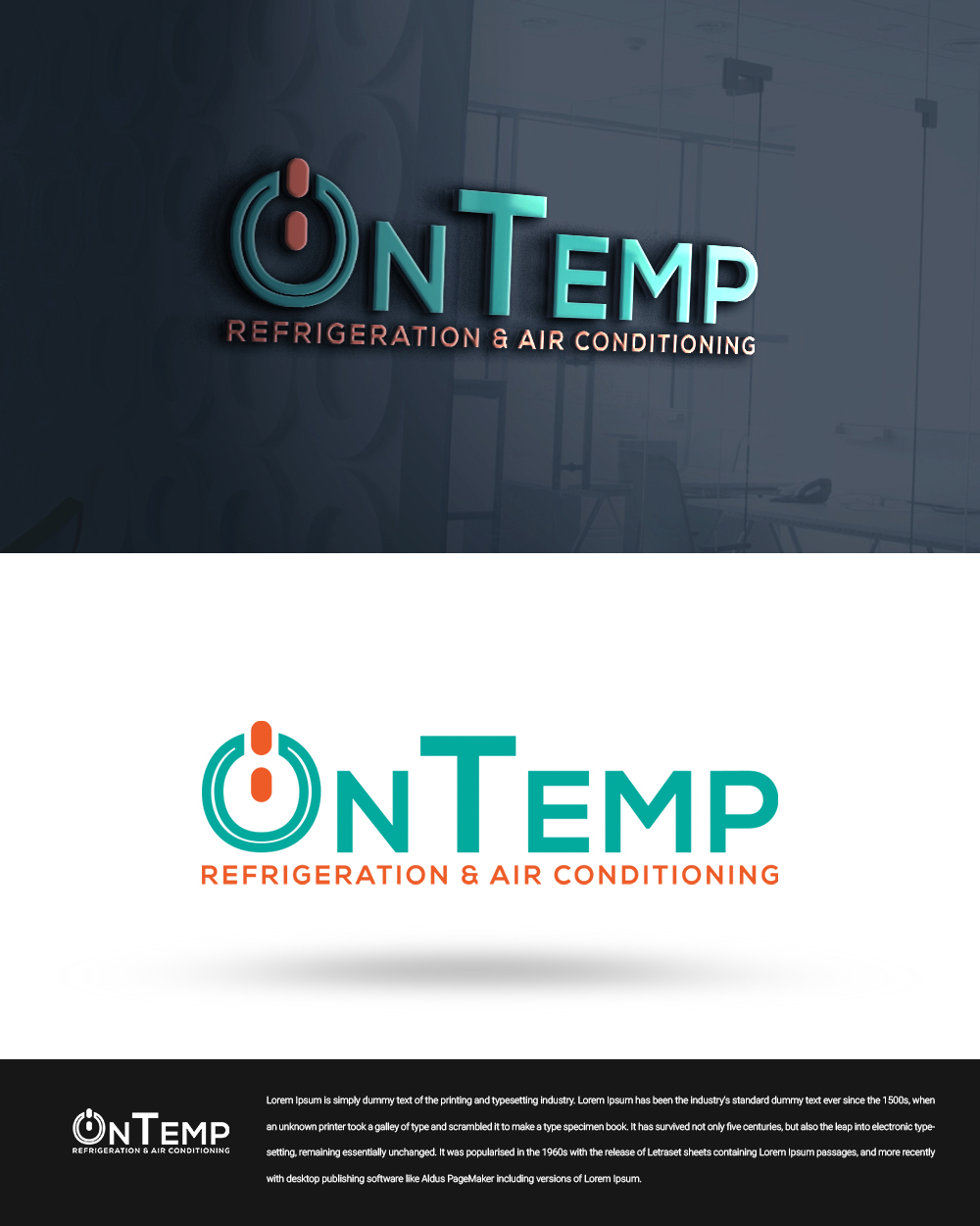 Masculine Bold Logo Design For Ontemp Refrigeration Amp Air Conditioning By Beetro 2 Design 22915262