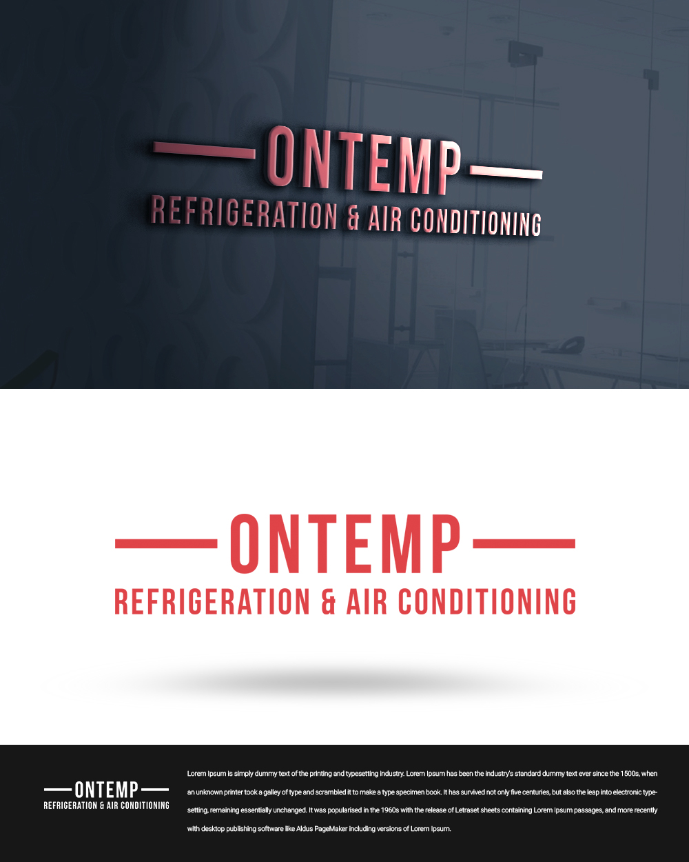 Masculine Bold Logo Design For Ontemp Refrigeration Amp Air Conditioning By Beetro 2 Design 22932232