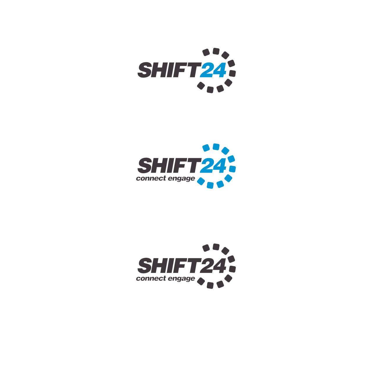 modern upmarket marketing logo design for shift24 by sdtm design
