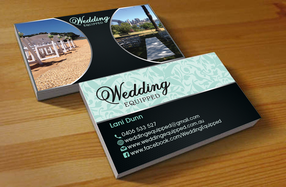 Wedding Business Card Design for a Company by Hardcore Design ...