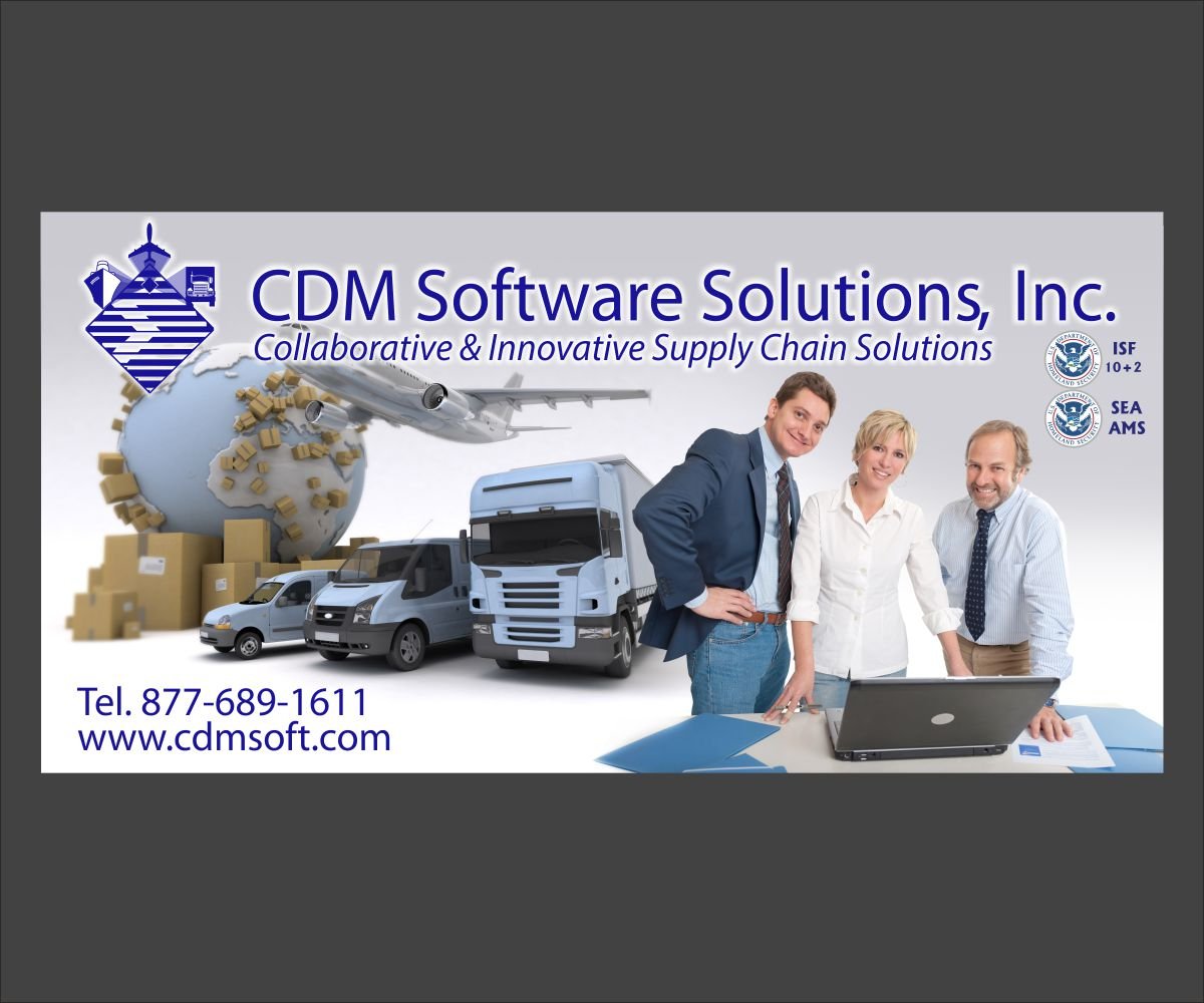 Elegant Playful Freight Forwarding Print Design For Cdm Software Solutions Inc By Maestroto Design 2990130