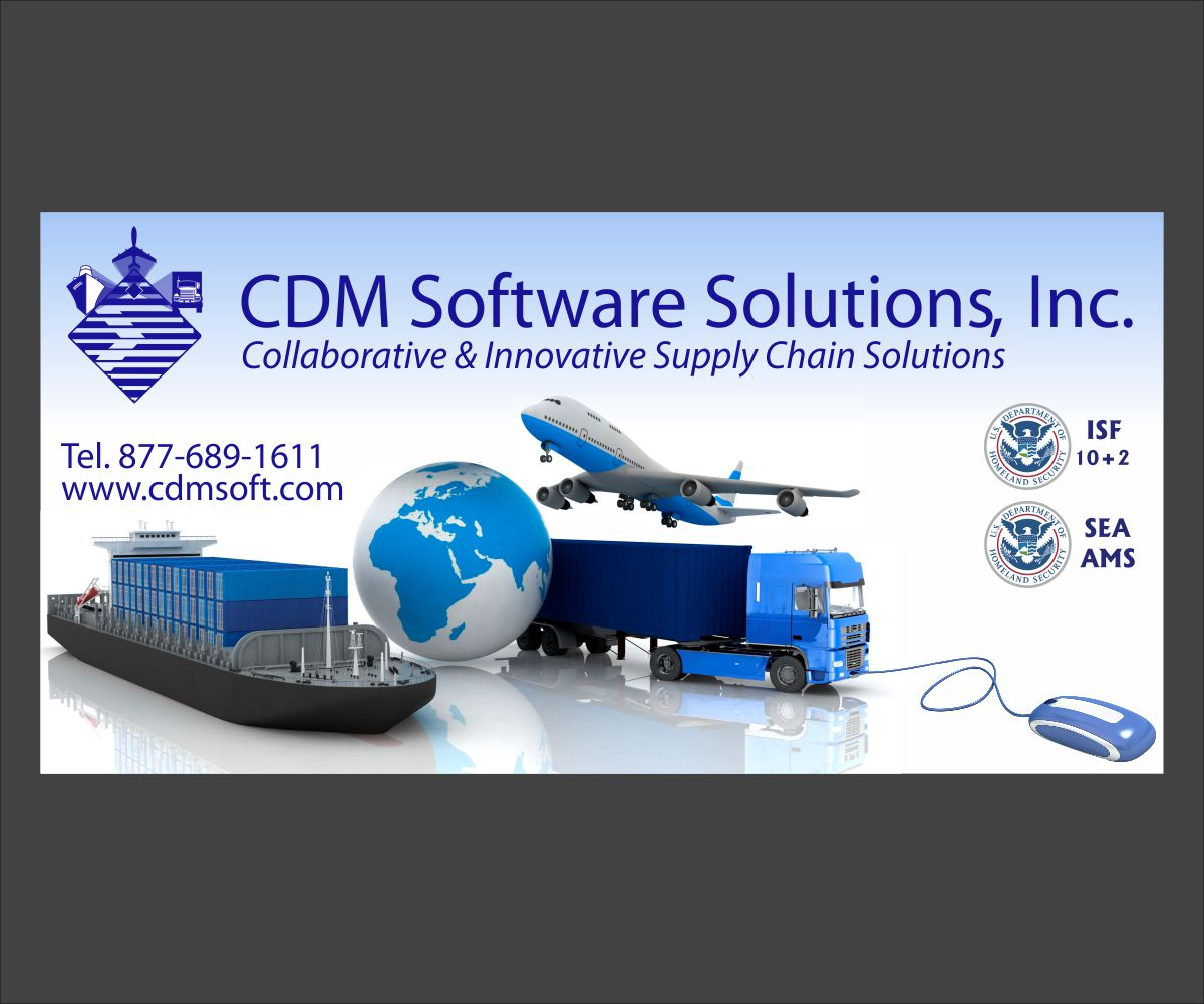Elegant Playful Freight Forwarding Print Design For Cdm Software Solutions Inc By Maestroto Design 2990133