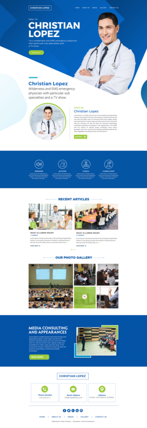 Modern Bold Medical And Science Web Design For A Company By Buttoncreative Design 23220467