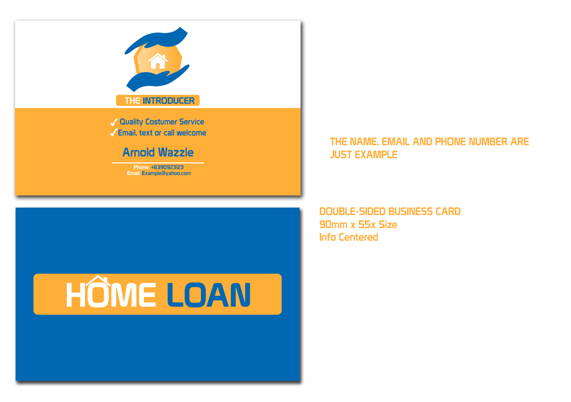 Modern upmarket loan business card design for a company by business card design by professor p for this project design 2990708 reheart Images