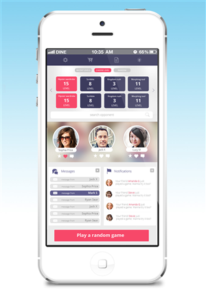 App Design by eMango - International game business needs app design