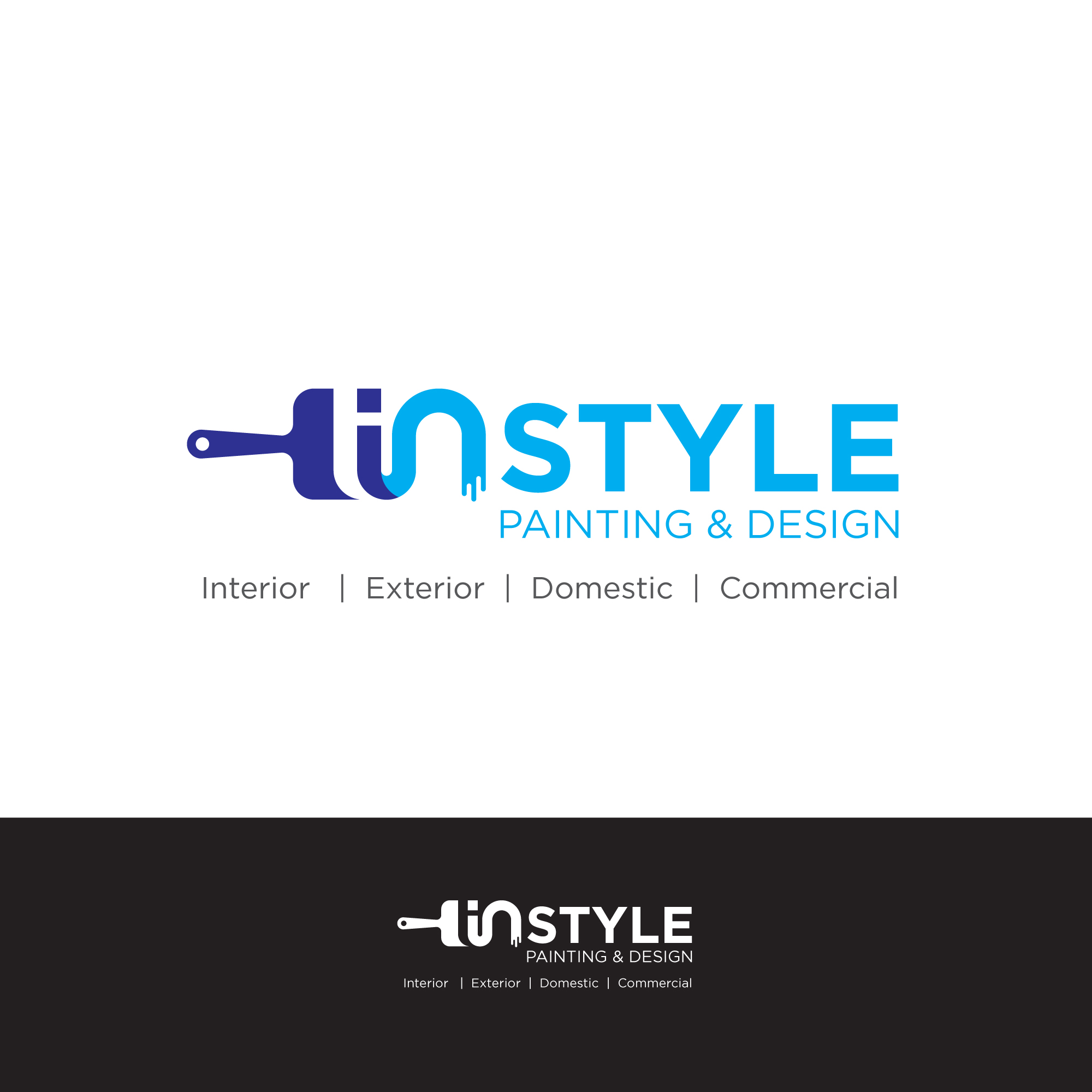 Logo Design For Instyle Painting Amp Design Interior Exterior Domestic Commercial By Wayansariadi Design 23526346