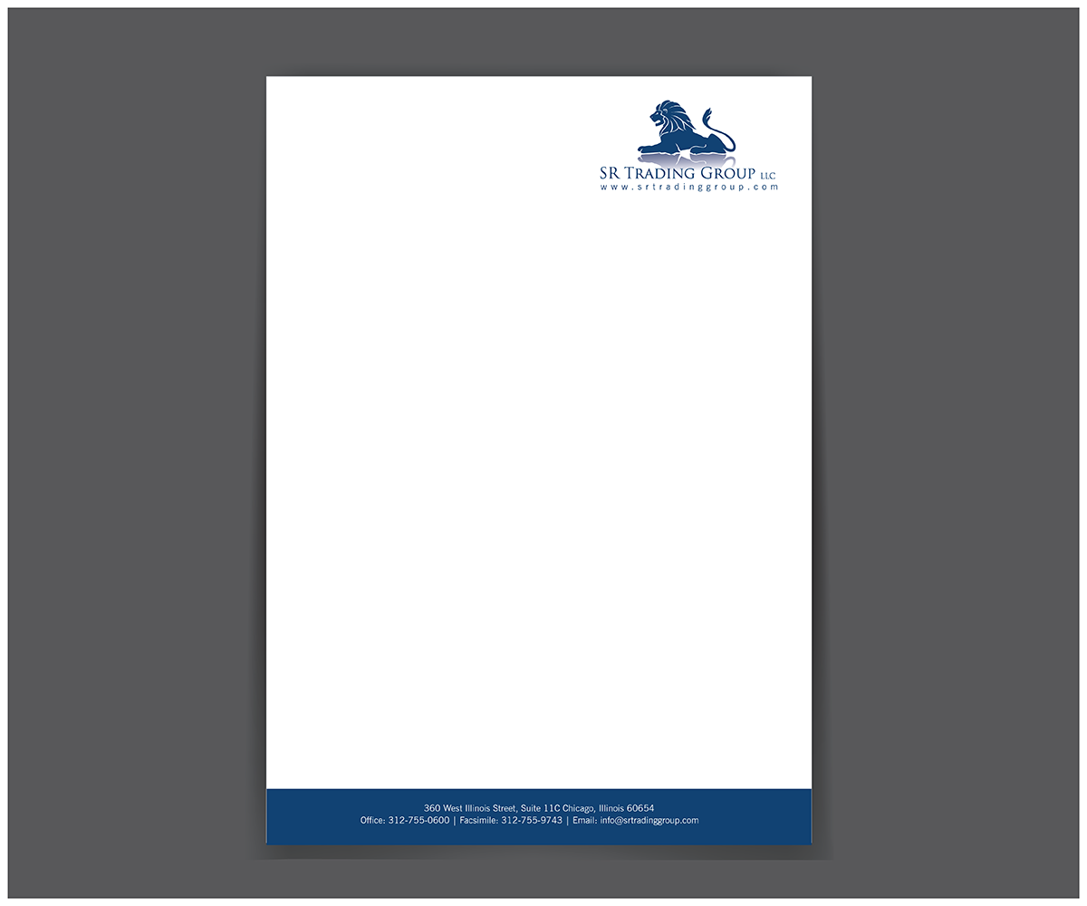 elegant serious business letterhead design for seriously
