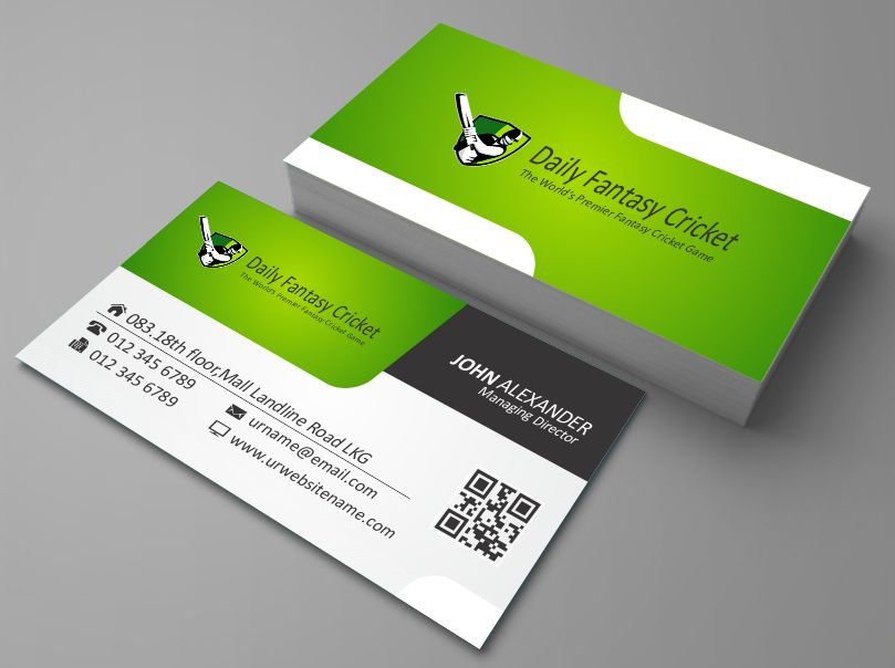 Business Card Design By AwsomeD For Daily Fantasy Cricket