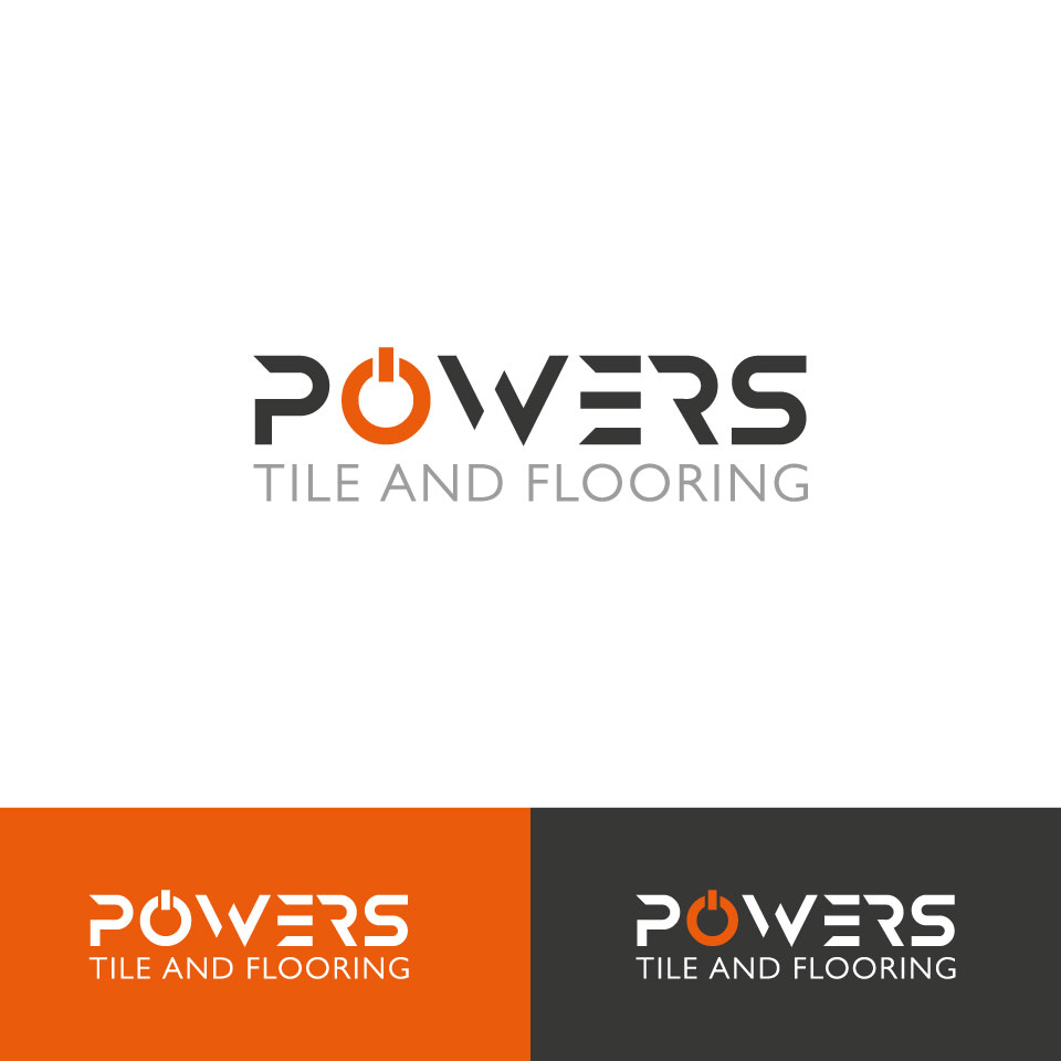 Upmarket Bold Logo Design For Powers Tile And Flooring By