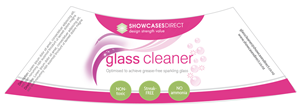 Packaging Design job – Label for Glass Cleaning Bottle – Winning design by MW Soluciones Creativas