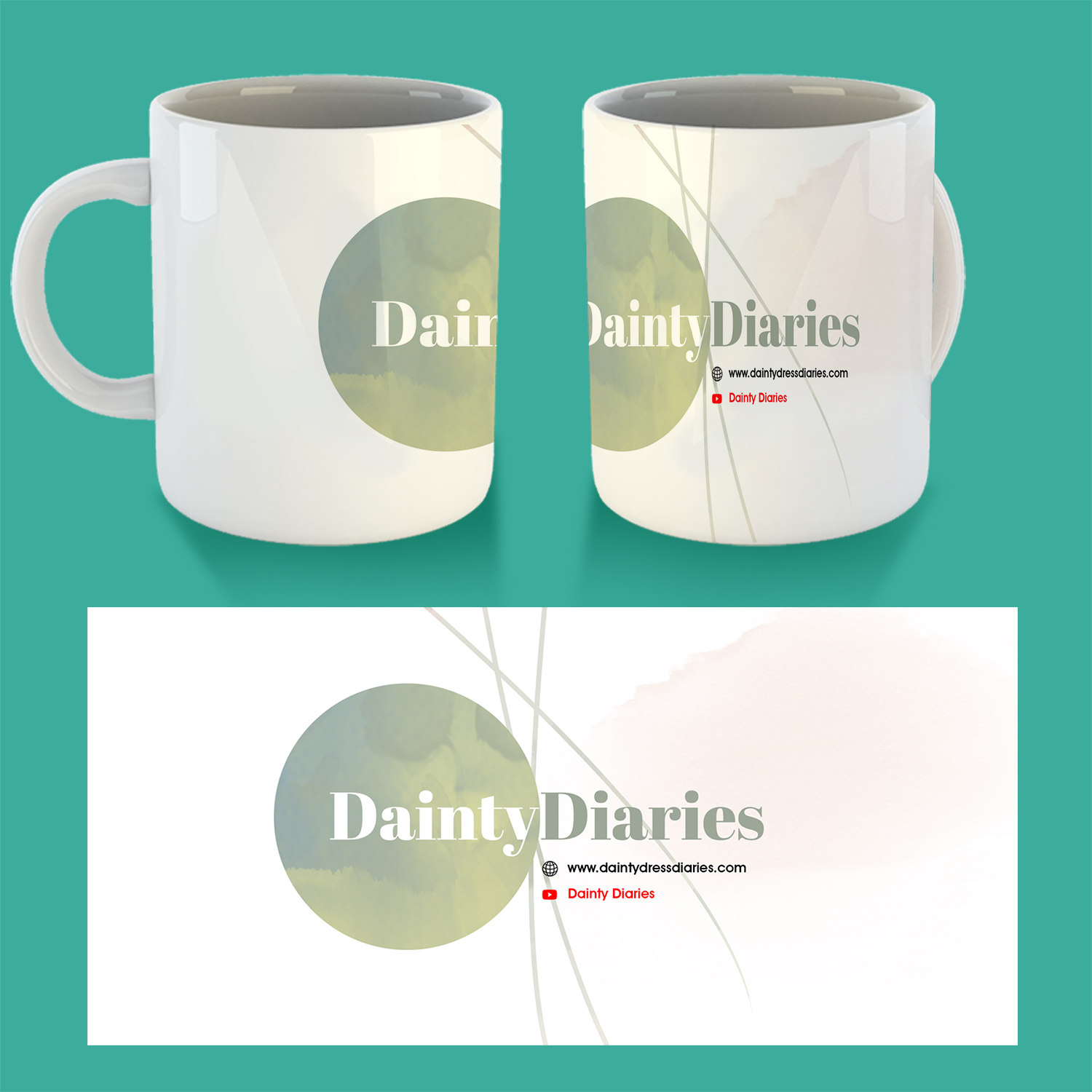 Playful Feminine Youtube Channel Cup And Mug Design For A Company By Uprinteez Design 23692127