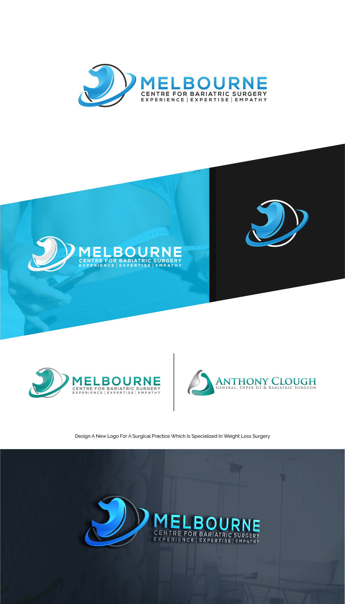 Playful Conservative Health Care Logo Design For Melbourne Centre For Bariatric Surgery Experience Expertise Empathy By Creativeworx Design 23716845