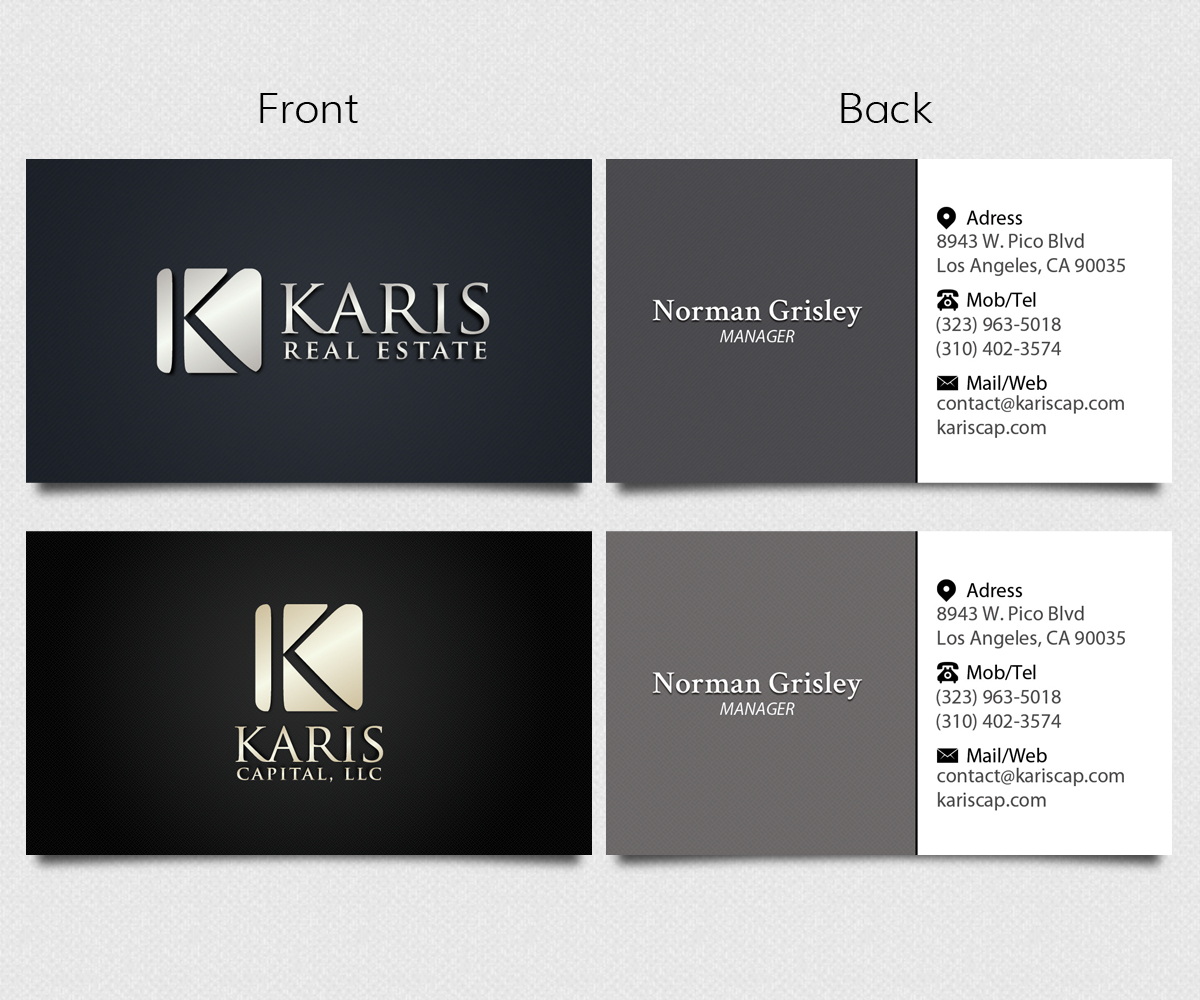 Masculine serious business business card design for a company by business card design by kamu for this project design 3043880 reheart Images
