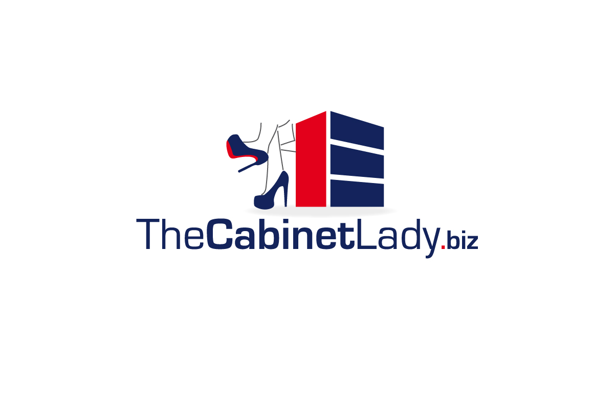 Playful personable logo design for the cabinet lady ehr for Kitchen decoration logo