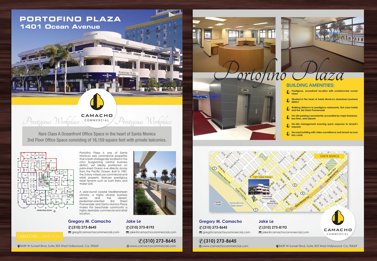 Bold modern flyer design for camacho commercial real estate services by sbss design 3040427 for Commercial real estate brochure