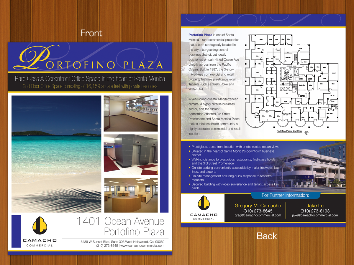 Bold, Modern, Real Estate Flyer Design for Camacho