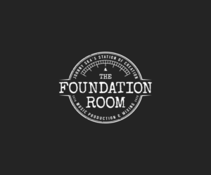 The Foundation Room, Johnny Ska's station of creation, music production & mixing | Logo Design by GBDESIGN