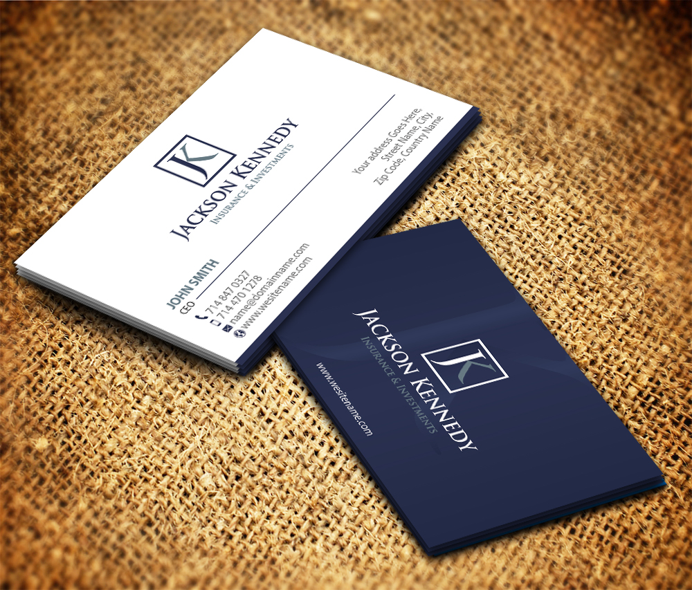Business Card Design For Investment Advisor