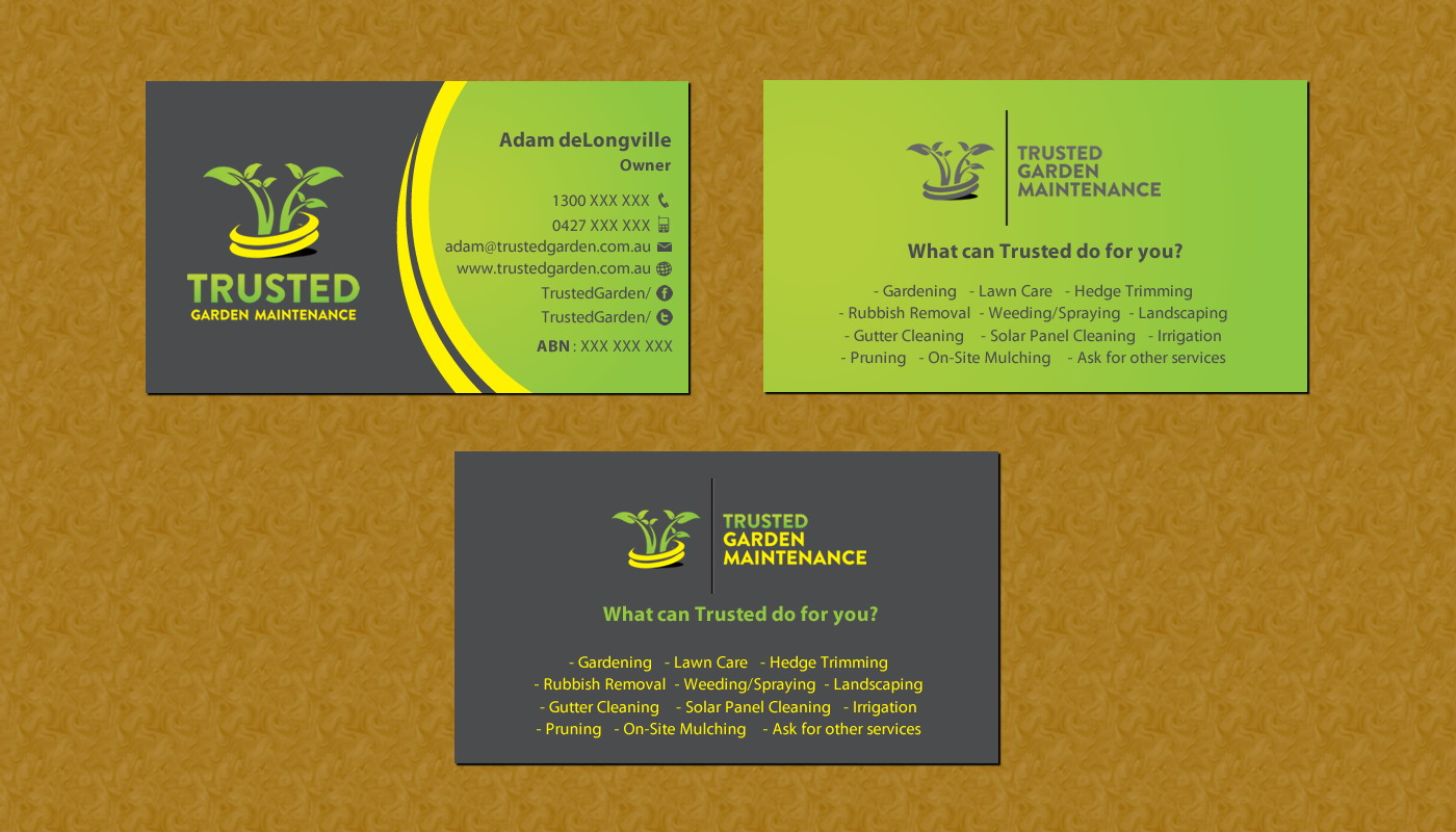 100 [ Landscaping Business Cards ]