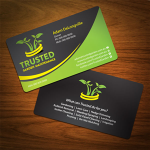 business card design design 736657 submitted to trusted garden maintenance needs a