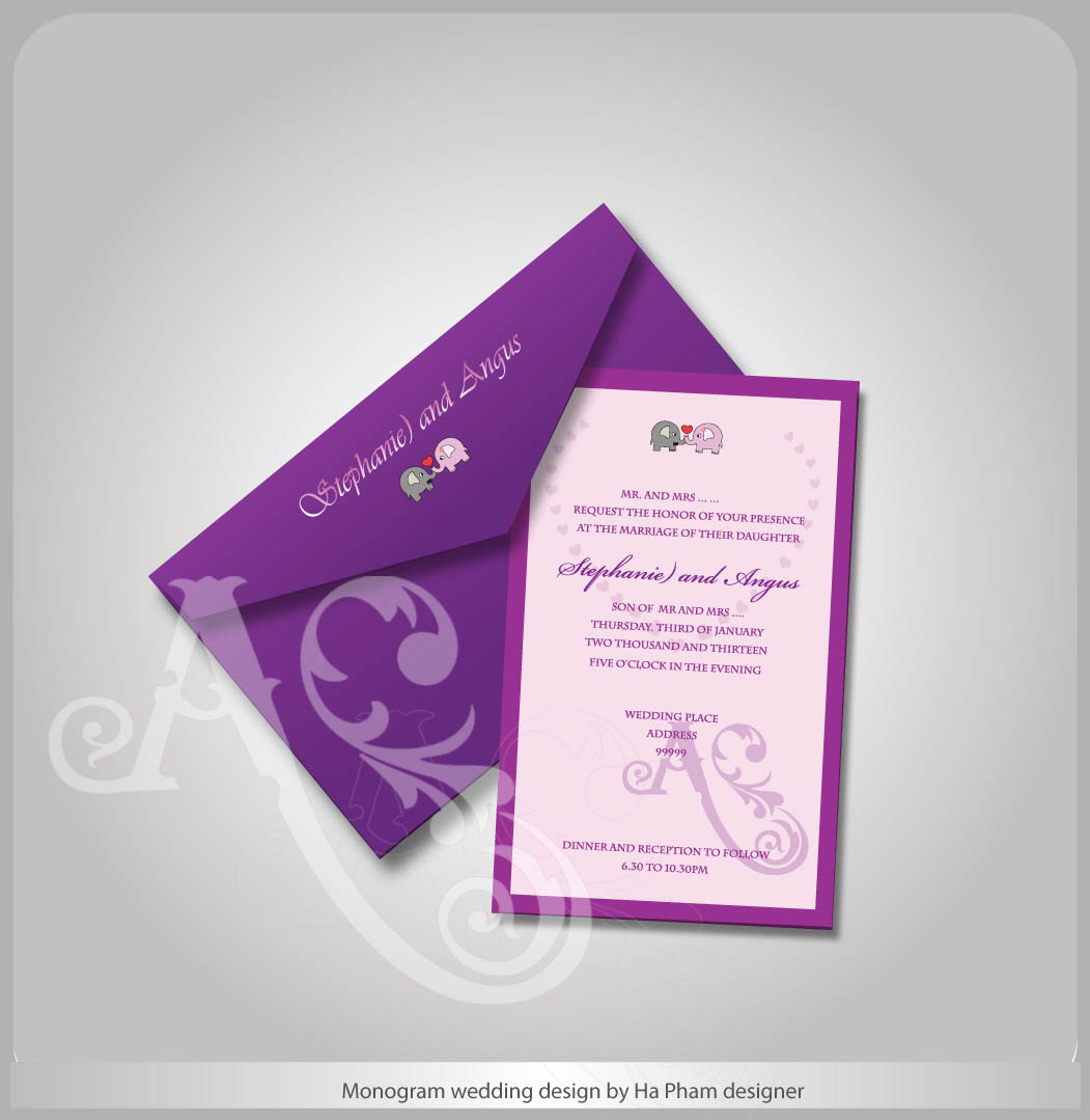 professional elegant wedding envelope design for a company by hana