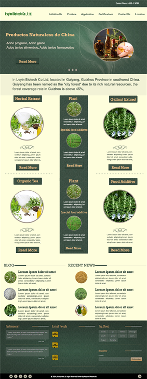 Wordpress Design by Shoaib Abbasi - herb/ plant /nut extract and special food addit...