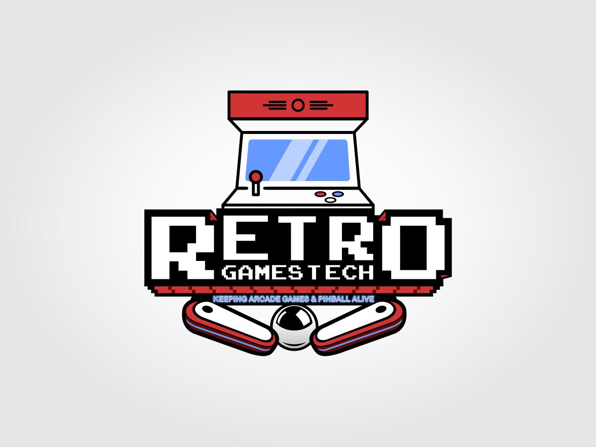 Playful Personable Games Logo Design For Name Retro Games Tech Slogan Keeping Arcade Games Pinball Alive By Kokoriko Design 24116931