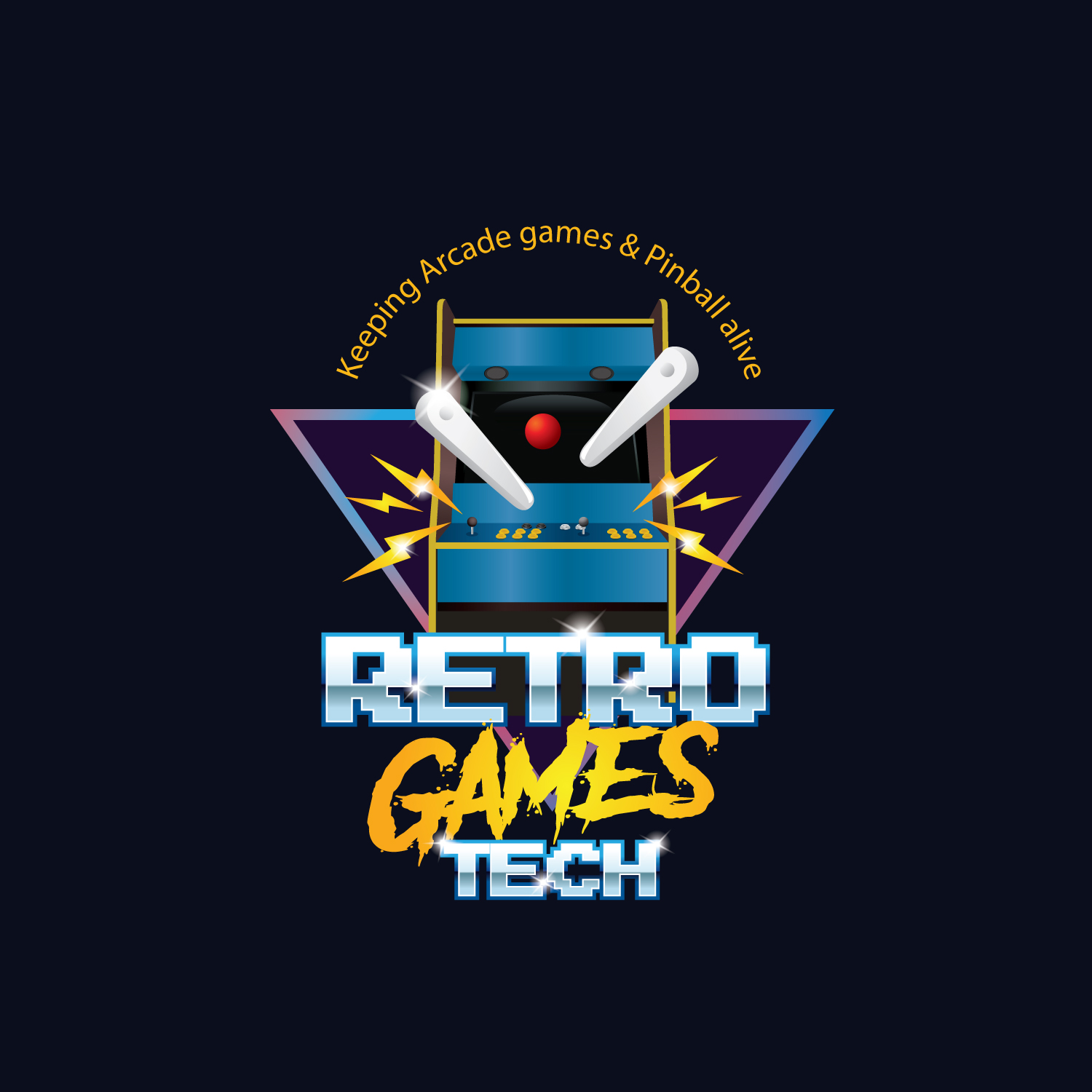 Playful Personable Games Logo Design For Name Retro Games Tech Slogan Keeping Arcade Games Pinball Alive By Wisest Design Design 24113631