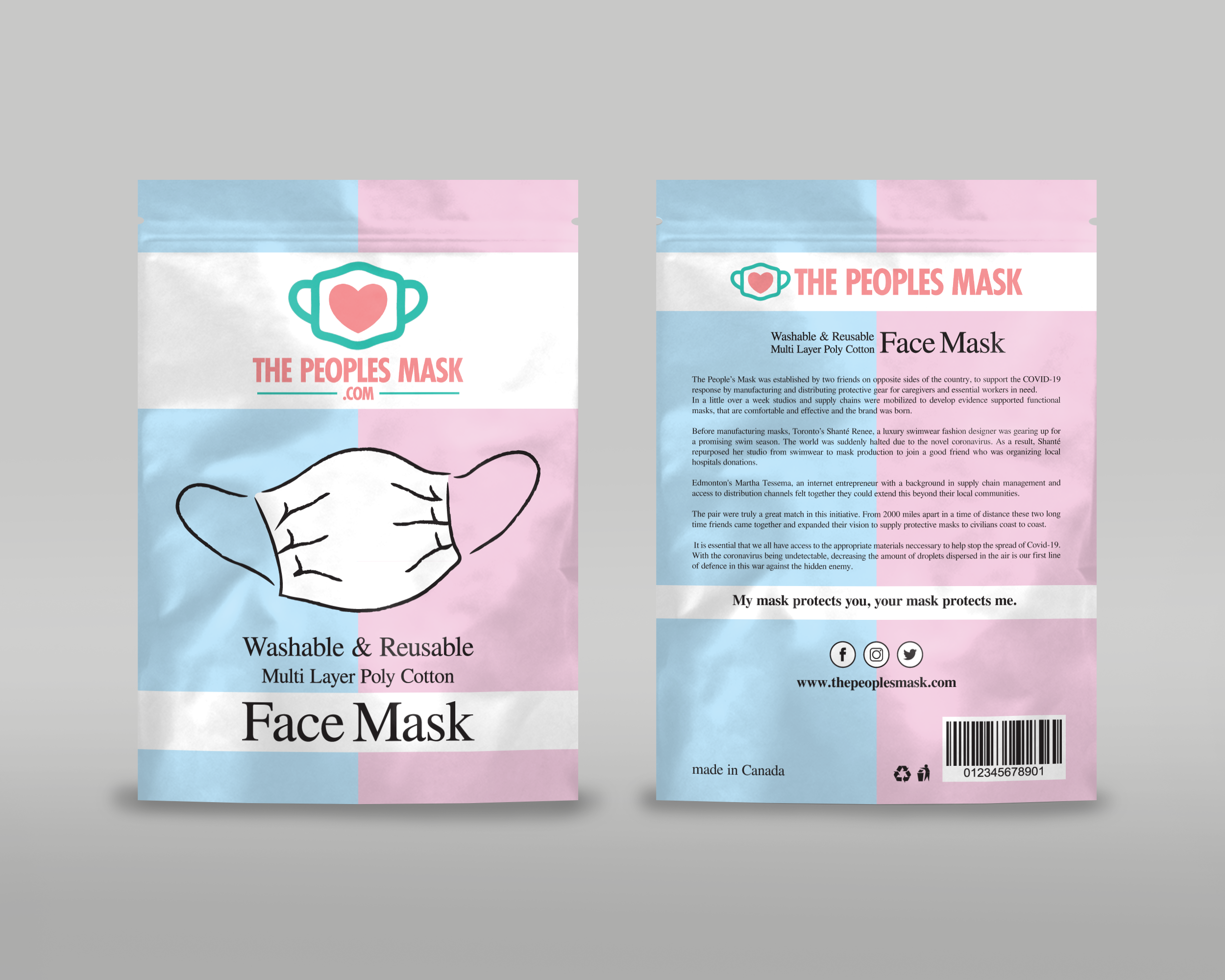 Bold Playful Fashion Packaging Design For The Peoples Mask Corp By Vpt Creations Design 24291503